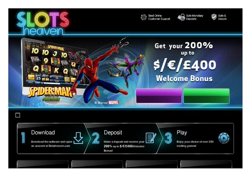 Slots Heaven review on Big Bonus Slots