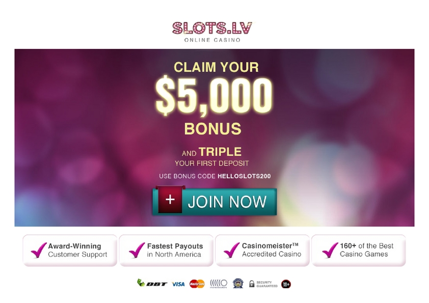 Slots LV review on Big Bonus Slots