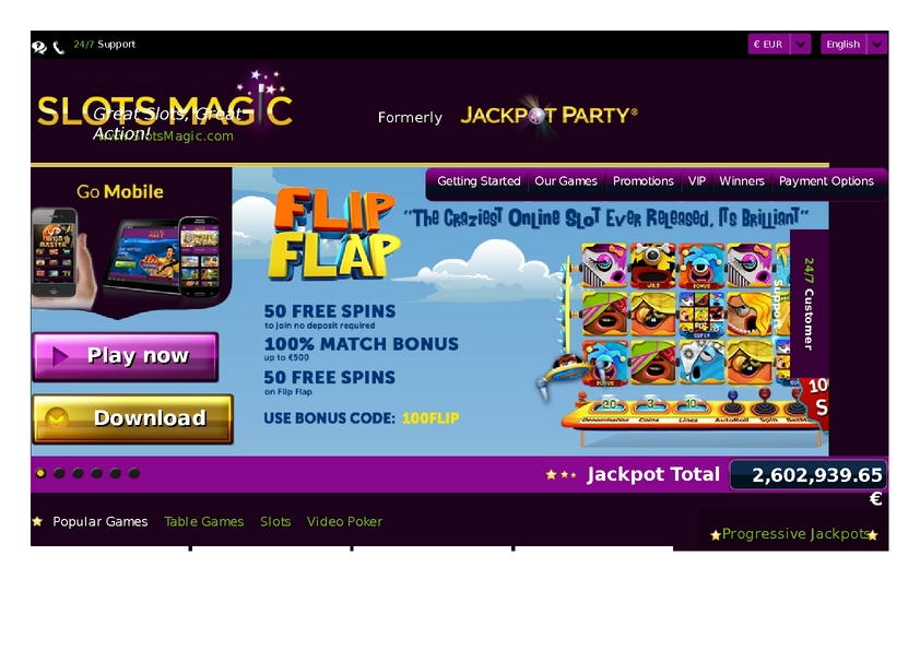 Slots Magic review on Big Bonus Slots