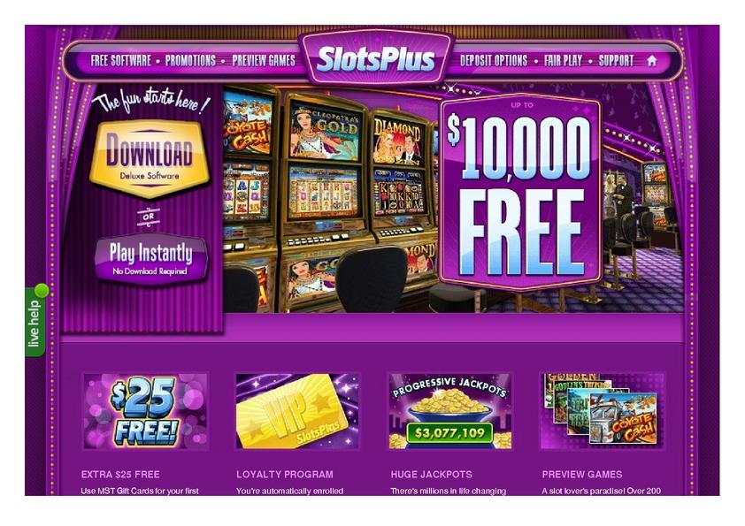 Slots Plus review on Big Bonus Slots