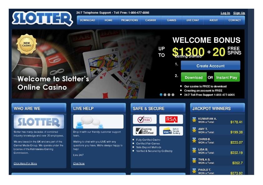 Slotter review on Big Bonus Slots