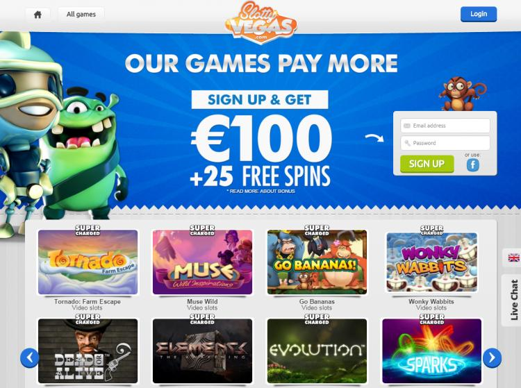 Slotty Vegas review on Big Bonus Slots