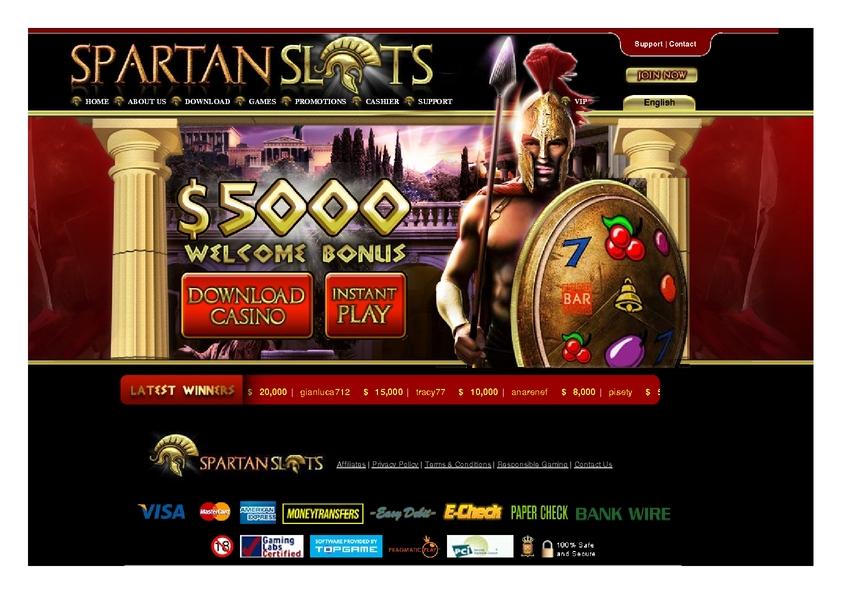 Spartan Slots review on Big Bonus Slots