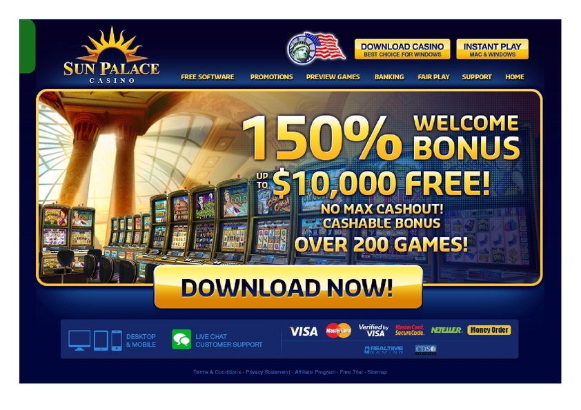 Sun Palace review on Big Bonus Slots