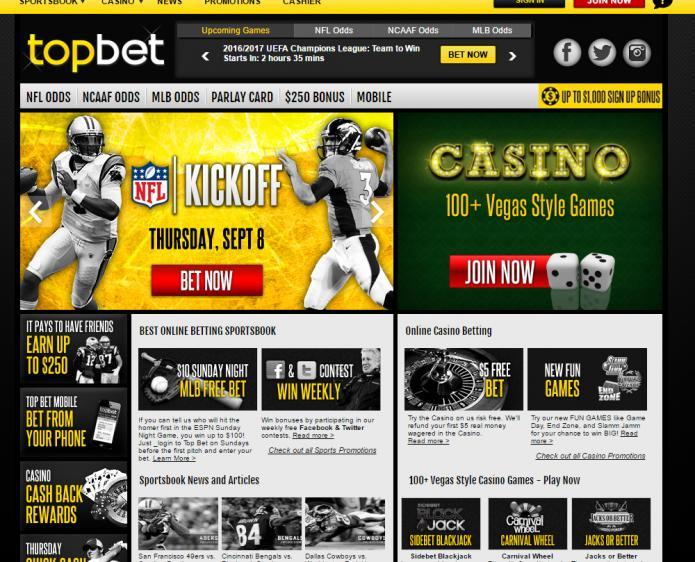 Top Bet review on Big Bonus Slots