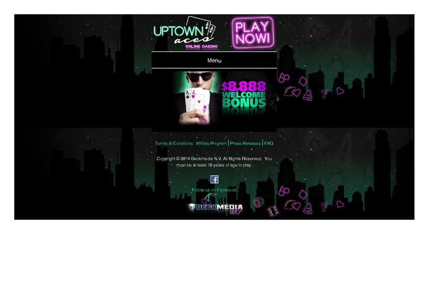 Uptown Aces review on Big Bonus Slots