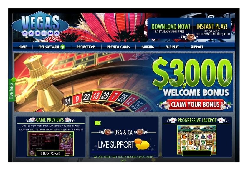 Vegas Casino Online review on Big Bonus Slots