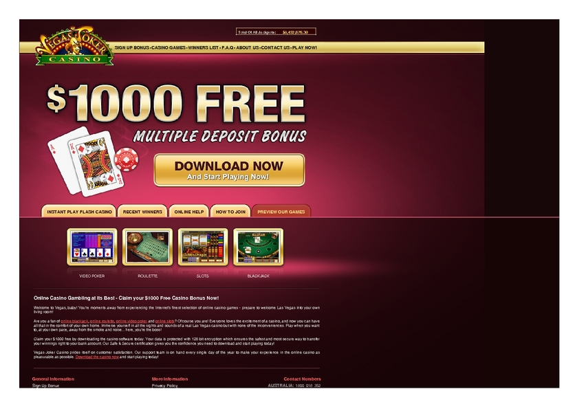 Vegas Joker review on Big Bonus Slots