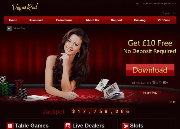 Vegas Red review on Big Bonus Slots