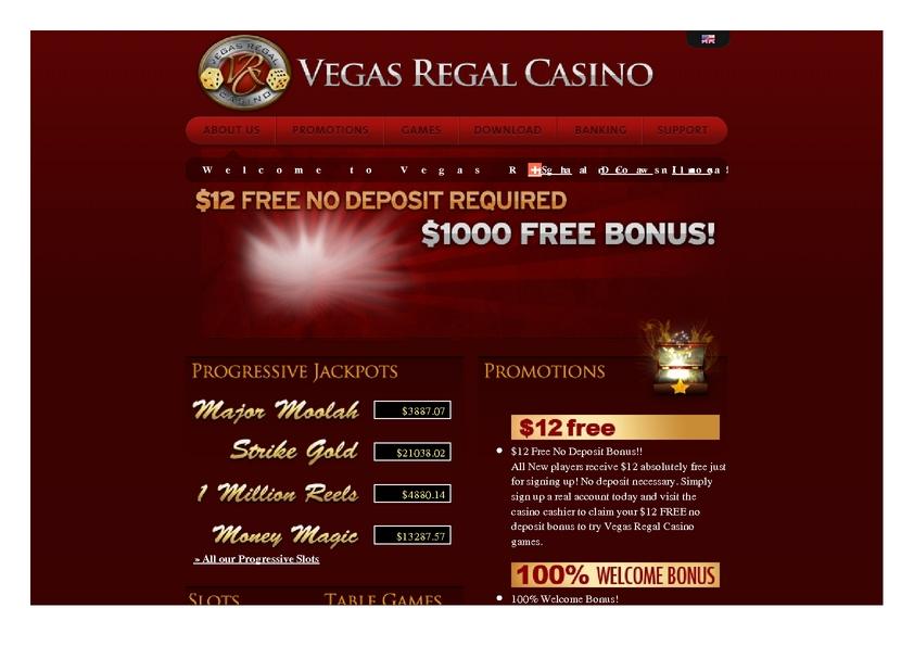 Vegas Regal review on Big Bonus Slots