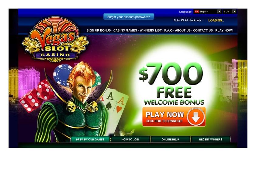 Vegas Slot review on Big Bonus Slots
