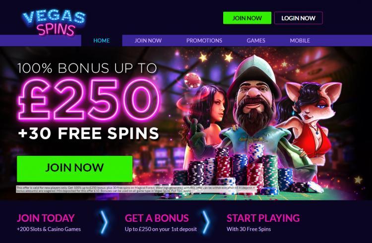 Vegas Spins review on Big Bonus Slots