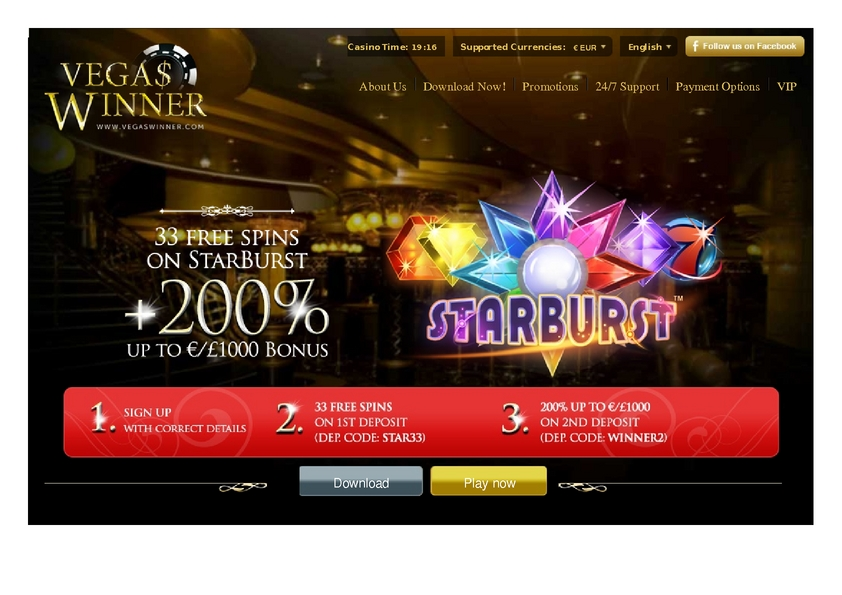 Vegas Winner review on Big Bonus Slots