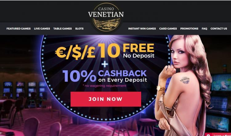 Venetian review on Big Bonus Slots