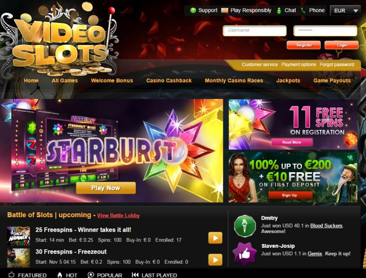 Video Slots review on Big Bonus Slots