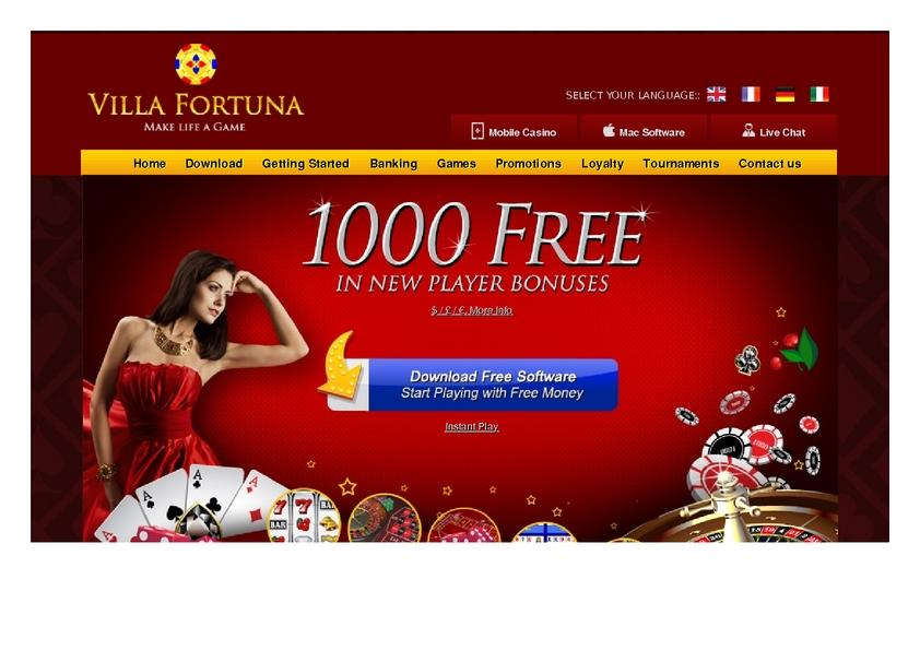 Villa Fortuna review on Big Bonus Slots