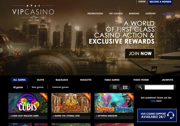 VIP Casino review on Big Bonus Slots