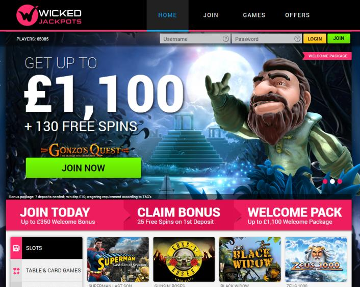 Wicked Jackpots review on Big Bonus Slots