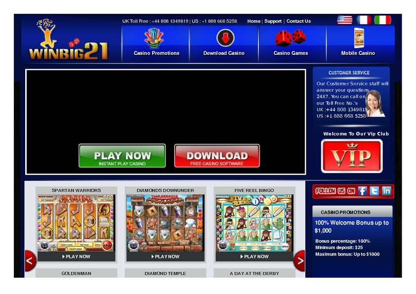 Winbig21 review on Big Bonus Slots