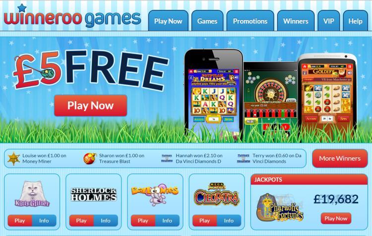 Winneroo Games review on Big Bonus Slots