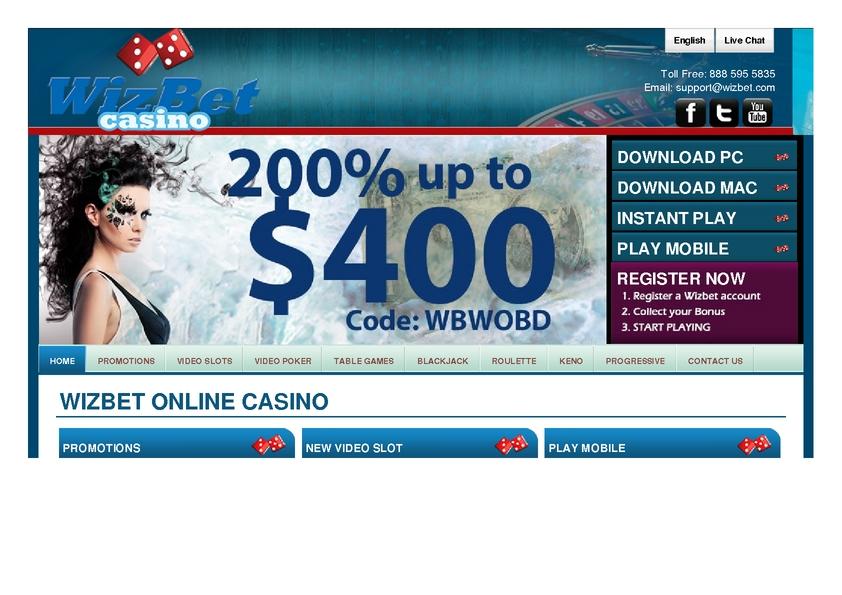 Wizbet review on Big Bonus Slots