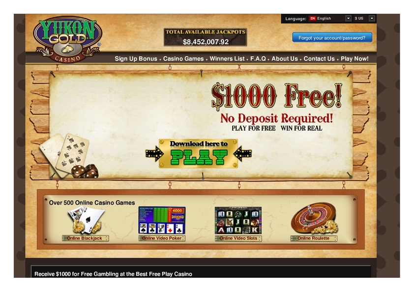Yukon Gold review on Big Bonus Slots