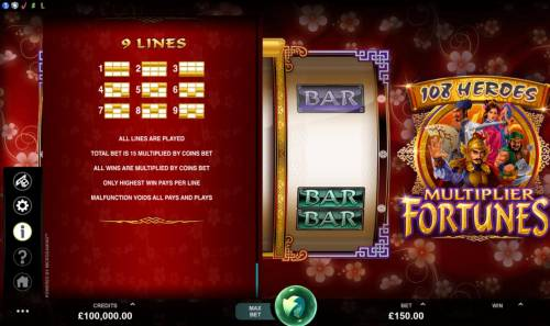 108 Heroes Multiplier Fortunes review on Big Bonus Slots