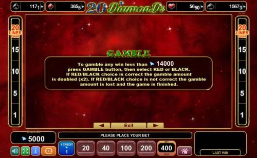 20 Diamonds Big Bonus Slots Gambling Feature Rules
