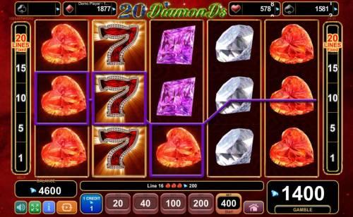 20 Diamonds Big Bonus Slots Multiple winning paylines