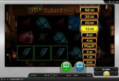 221B Baker Street Big Bonus Slots Ladder Gamble Feature game Board