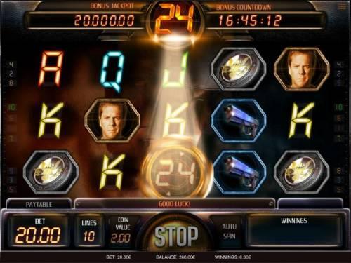 24 Big Bonus Slots Sticky wild triggered