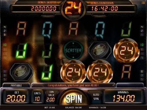 24 Big Bonus Slots Sticky wilds triggers a $134 big win.