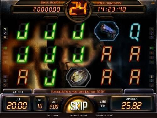 24 Big Bonus Slots Multiple winning paylines triggers a modest win!
