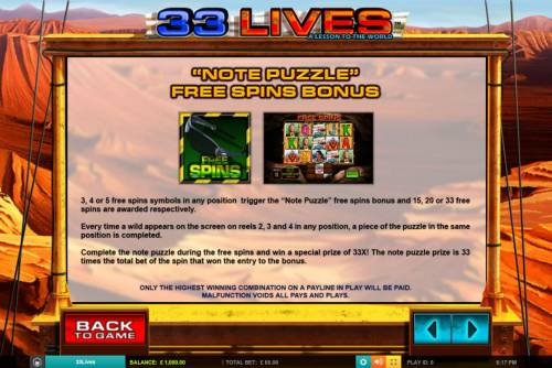 33 Lives A Lesson to the World review on Big Bonus Slots