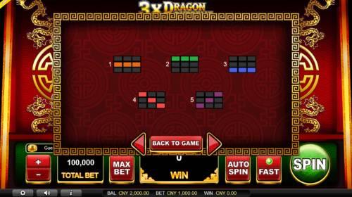 3x Dragon Supreme Big Bonus Slots Paylines 1-5