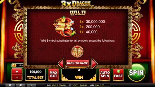 3x Dragon Supreme Big Bonus Slots Wild Symbol Rules