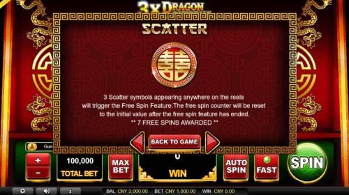 3x Dragon Supreme Big Bonus Slots Scatter Symbol Rules
