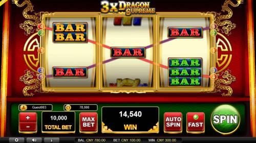 3x Dragon Supreme Big Bonus Slots Multiple winning paylines