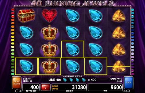 40 Shining Jewels review on Big Bonus Slots