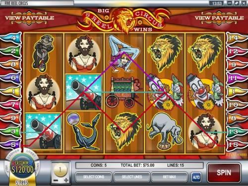 5-Reel Circus review on Big Bonus Slots