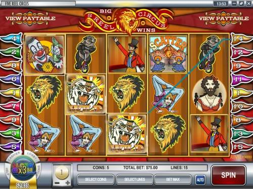 5 Reel Circus review on Big Bonus Slots