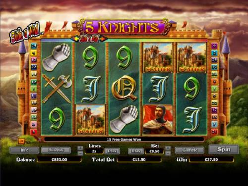 5 Knights review on Big Bonus Slots