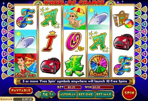 Wheel of Chance 5 Reel review on Big Bonus Slots