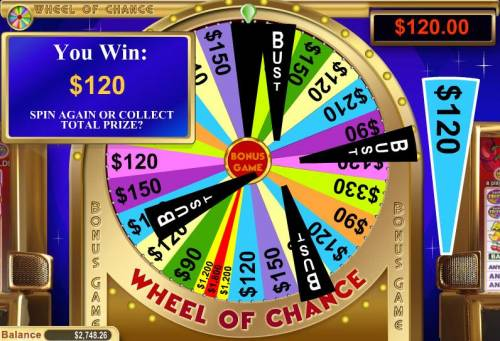 Wheel of Chance 5 Reel review on Big Bonus Slots