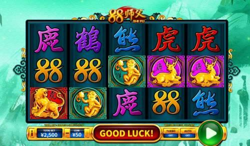 88 Shi fu Big Bonus Slots Main Game Board