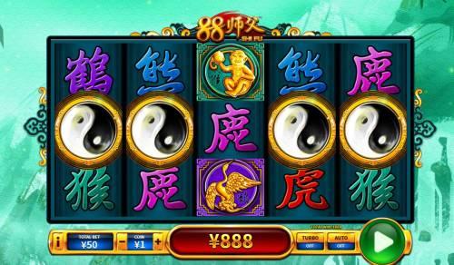 88 Shi fu Big Bonus Slots Three or more scatter symbols triggers bonus game