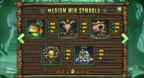 Abundance Spell Big Bonus Slots Medium Value Slot Game  Symbols Paytable.