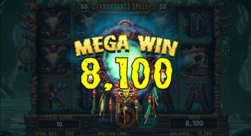 Abundance Spell Big Bonus Slots An 8,100 Mega Win Awarded.