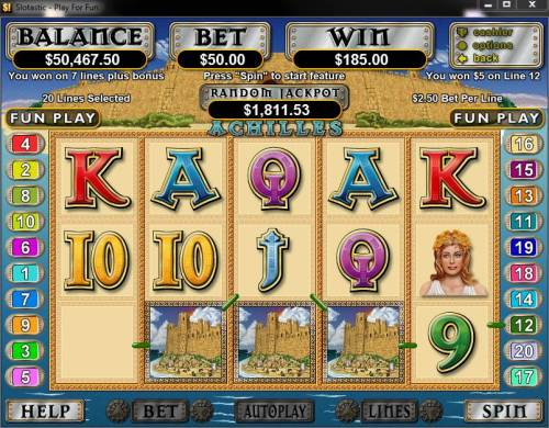 Achilles review on Big Bonus Slots