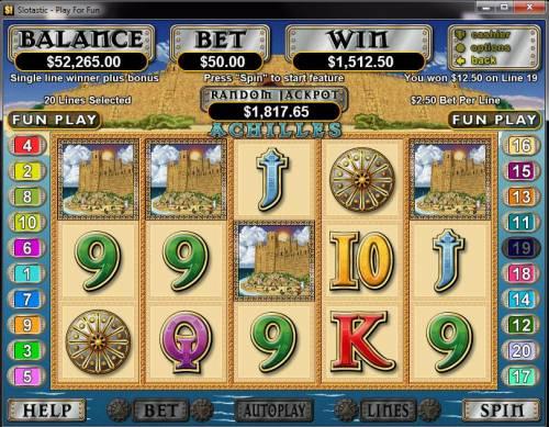 Achilles review on Big Bonus Slots